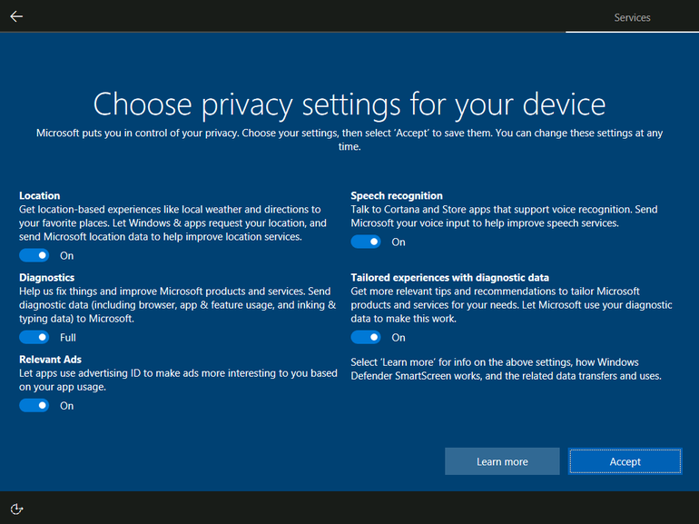 Bypassing Choose Privacy Settings Screen – Windows 10 – Adam Leinss